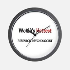 World's Hottest Research Psychologist Wall Clock