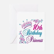 16th Birthday Princess Greeting Card