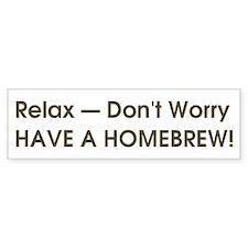 Relax... have a homebrew retro bumper sticker