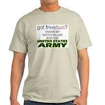 Got Freedom? Army (Sister-In-Law) Ash Grey T-Shirt
