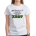 Got Freedom? Army (Sister-In-Law) Women's T-Shirt