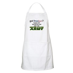Got Freedom? Army (Sister-In-Law) BBQ Apron