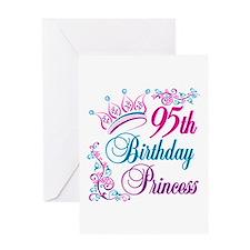 95th Birthday Princess Greeting Card