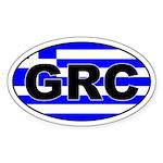 Greek / Greece (GRC) Oval Sticker