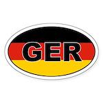 German (GER) Flag Oval Sticker