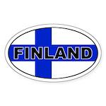 Finland / Finnish Flag Oval Sticker