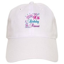 90th Birthday Princess Baseball Cap