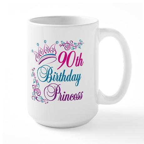 90th Birthday Princess Large Mug