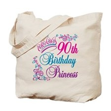 90th Birthday Princess Tote Bag