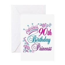 90th Birthday Princess Greeting Card