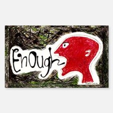 Enough! Redhead Sticker (Rectangle)