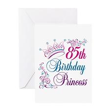 85th Birthday Princess Greeting Card