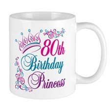 80th Birthday Princess Mug