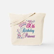 80th Birthday Princess Tote Bag
