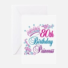 80th Birthday Princess Greeting Card