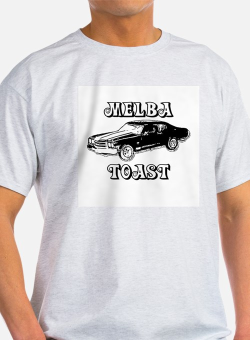 Melba Toast (confused? dazed?) Ash Grey T-Shirt