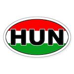 Hungarian (HUN) Flag Oval Sticker