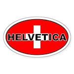 Swiss / Switzerland (CH) Oval Sticker
