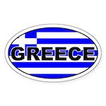 Greek / Greece Flag Oval Sticker