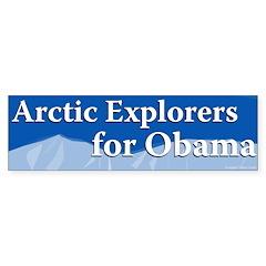 Arctic Explorers for Obama bumper sticker