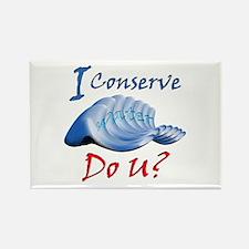 I Conserve Water Do U? Rectangle Magnet