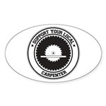 Support Carpenter Oval Sticker
