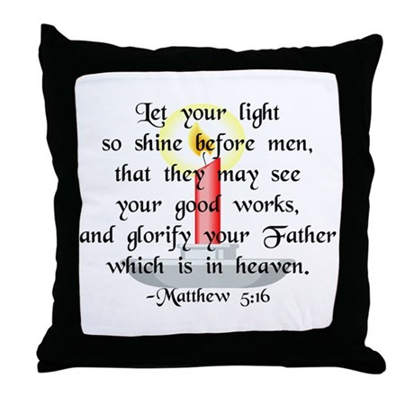 """Let Your Light So Shine"" Throw Pillow"