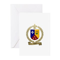 BLAIS Family Crest Greeting Cards (Pk of 10)