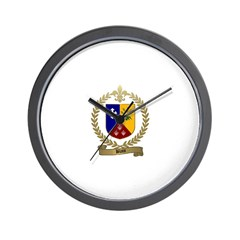 BLAIS Family Crest Wall Clock