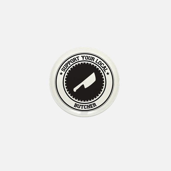 Support Butcher Mini Button (10 pack)