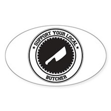 Support Butcher Oval Decal