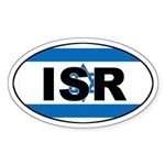 Israeli (ISR) Flag Oval Sticker