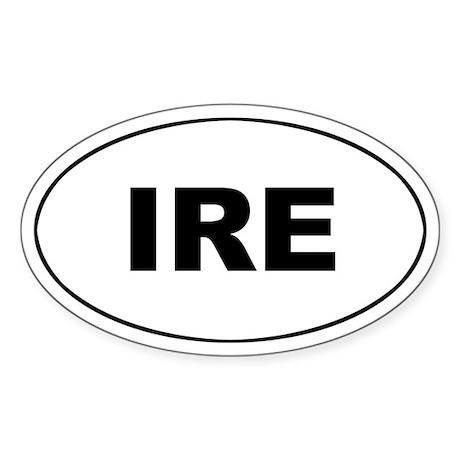 Irish (IRE) Oval Sticker