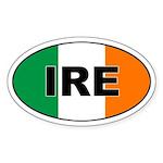 Flag of Ireland (IRE) Oval Sticker