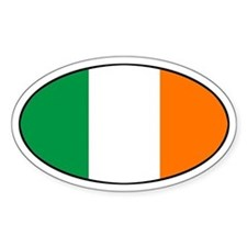 Irish Flag Oval Decal