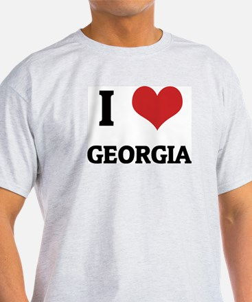 I Love Georgia Ash Grey T-Shirt