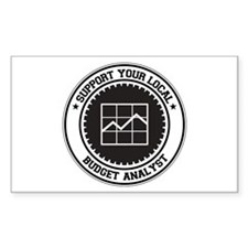 Support Budget Analyst Rectangle Decal
