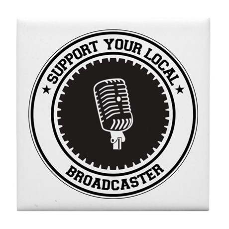Support Broadcaster Tile Coaster