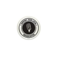 Support Broadcaster Mini Button (10 pack)