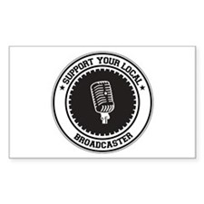Support Broadcaster Rectangle Decal