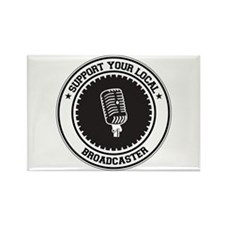 Support Broadcaster Rectangle Magnet