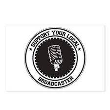 Support Broadcaster Postcards (Package of 8)