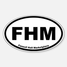 Faneuil Hall Marketplace Oval Decal