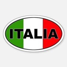 Italia Oval Bumper Stickers