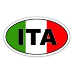 Italy (ITA) Flag Oval Sticker