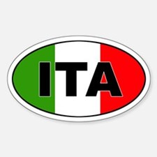 Italy (ITA) Flag Oval Decal