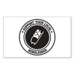 Support Bobsledder Rectangle Sticker 10 pk)