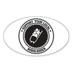 Support Bobsledder Oval Sticker (10 pk)
