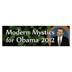 Modern Mystics for Obama bumper sticker