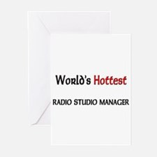 World's Hottest Radio Studio Manager Greeting Card
